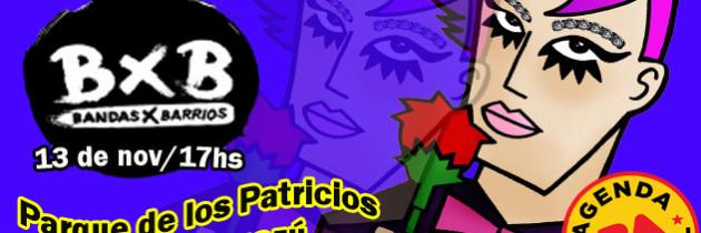 LaW PoP en vivo en Bandas por barrios, Parque Patricios, gratis al aire libre