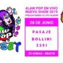 LaW PoP en vivo en La dama de Bollini, gratis