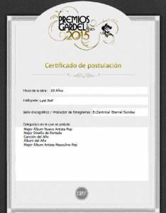LaW PoP postulado a los premios Gardel 2015